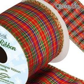 Tartan and Christmas Ribbons